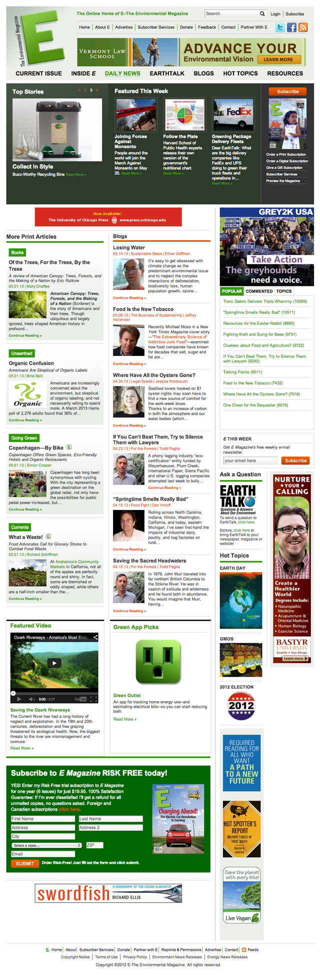 E – The Environmental Magazine